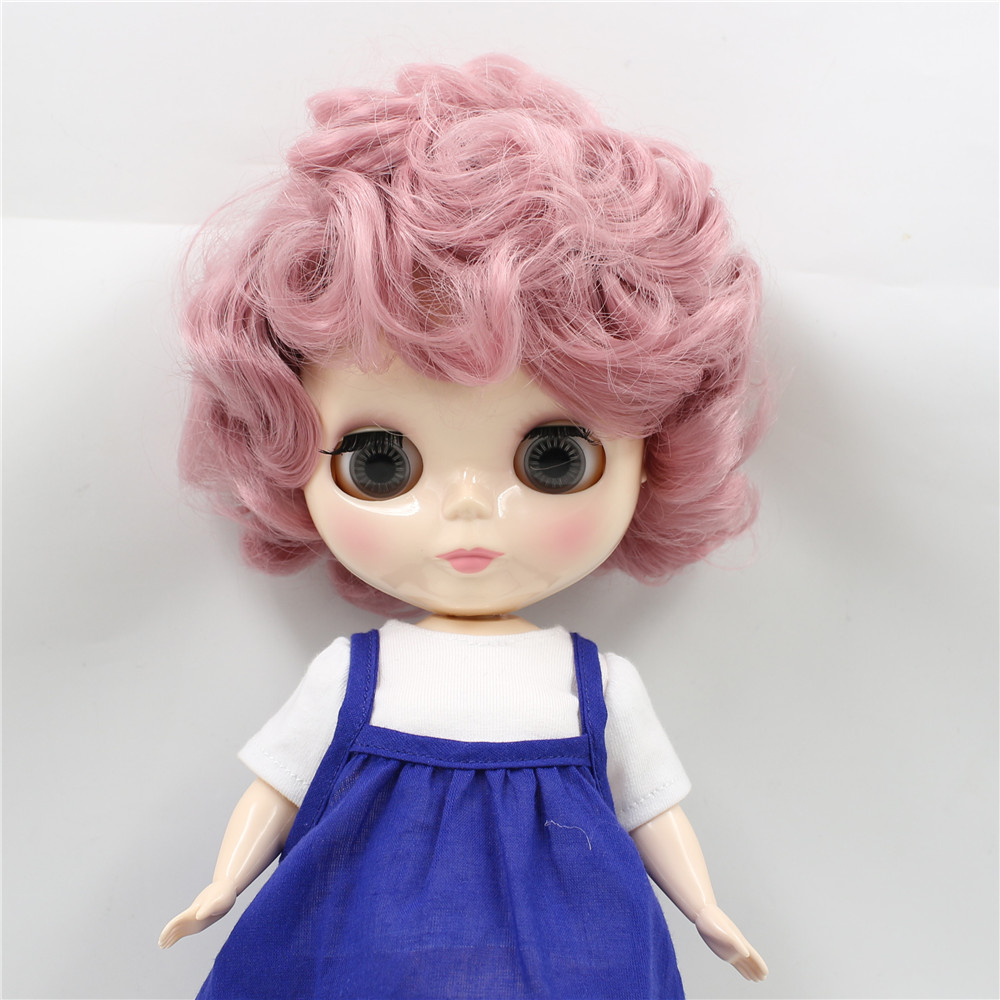 Adorable Girl Doll 28cm Ball Jointed Doll Body with Light Blue Curly Hair