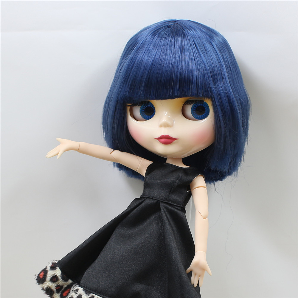 """12/"""" Neo Blythe Doll From Factory Jointed Body Dreamy Elegant Yellow+Blue Hair"""