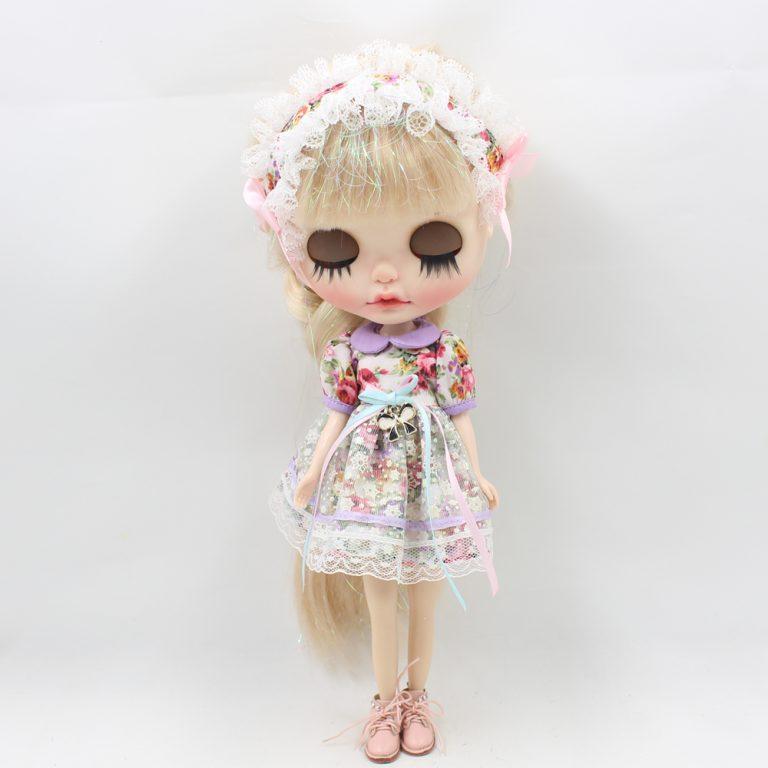 Fortune Days Blyth doll Mori Girl style Flower dress, Hair