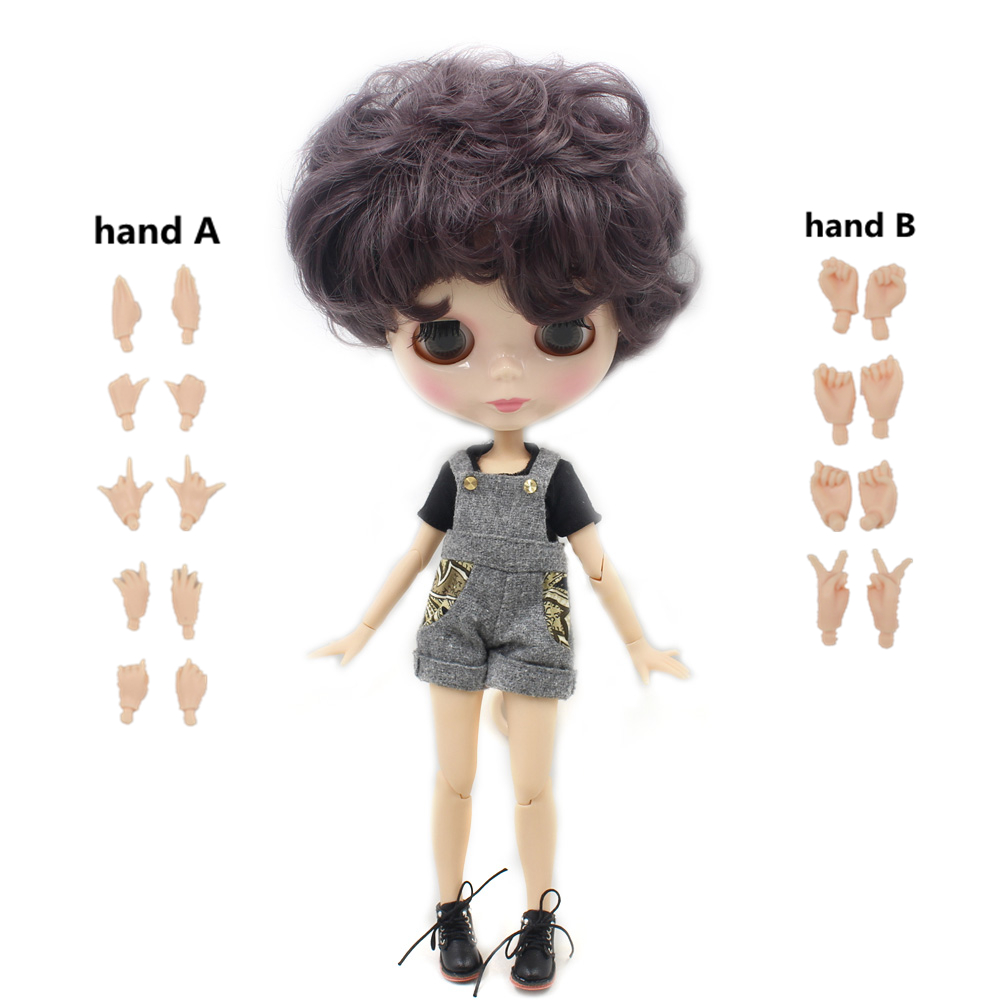 Blythe Like Factory Fashion Nude Icy Dolls With Grey Pink